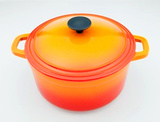 "8"" Enamel Cast Iron Casserole Pot"
