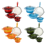 4pcs Enamel Cast Iron Cookware Set